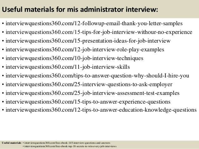 15 useful materials for mis administrator interview - Linux Administrator Interview Questions And Answers