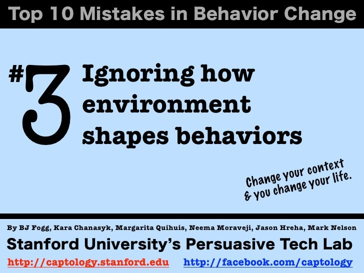 3#                 Ignoring how                  environment                  shapes behaviors                            ...