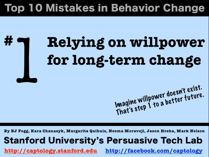 1#                 Relying on willpower                  for long-term change                                             ...