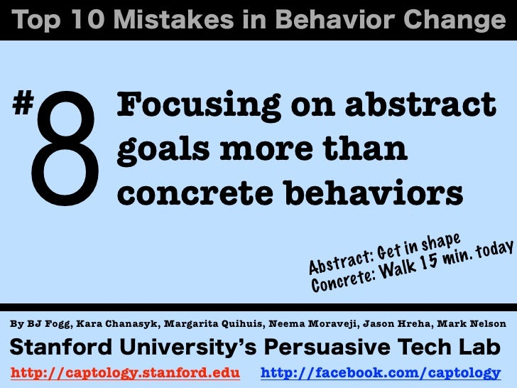 8#                 Focusing on abstract                  goals more than                  concrete behaviors              ...