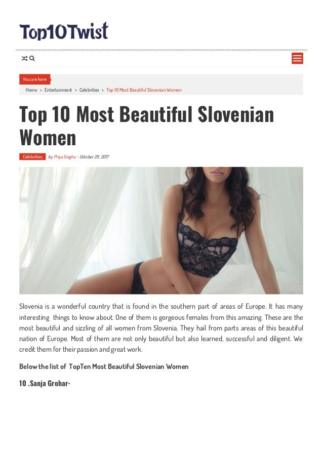 slovenian girls