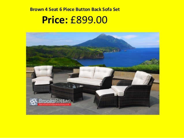 brown 4 seat 6 piece button back sofa set price 89900