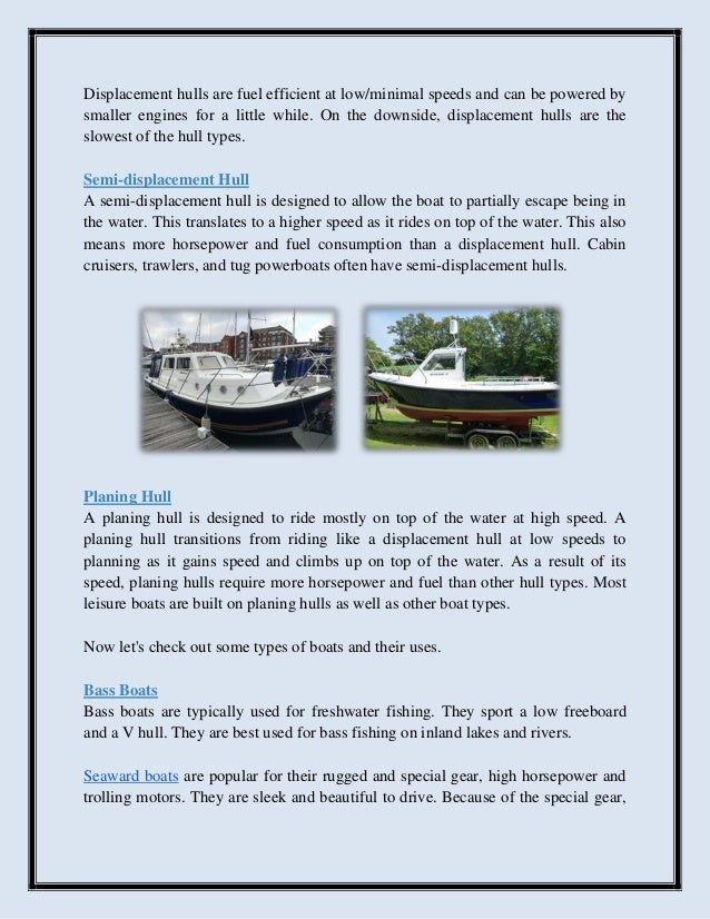 Top 10 motorboats and their uses
