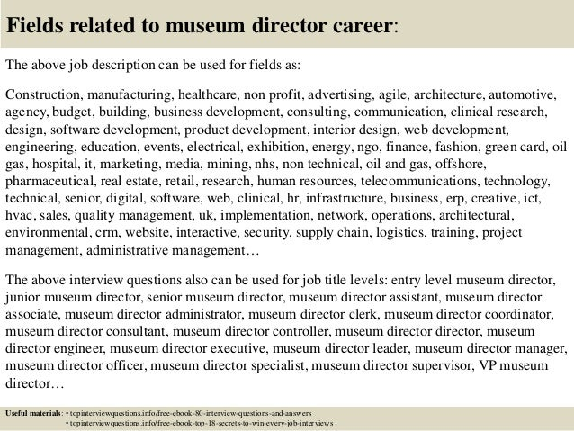 Cover Letter Examples For Museum Jobs