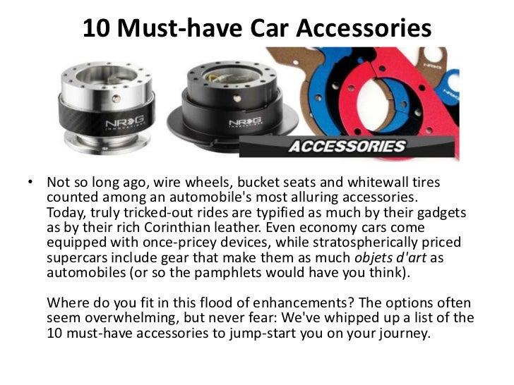 Top 10 Necessary Car Accessories
