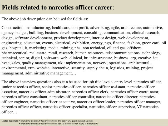 top 10 narcotics officer interview questions and answers - Narcotics Officer Sample Resume
