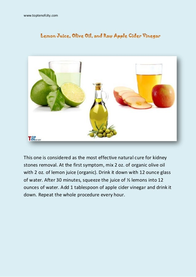 Kidney Stones Natural Remedies Olive Oil