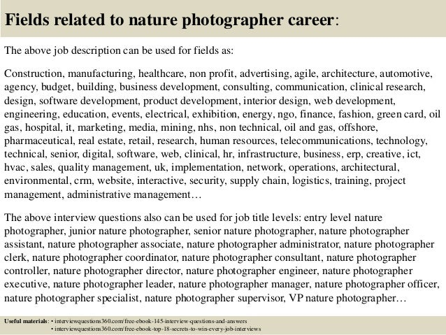 Top 10 nature photographer interview questions and answers – Job of a Photographer
