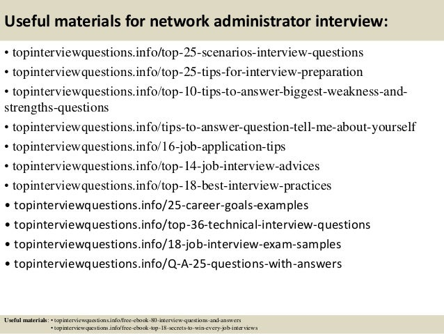 Top 10 network administrator interview questions and answers