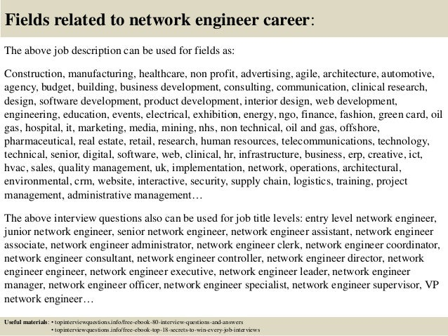 Top 10 network engineer interview questions and answers – Jr Network Engineer Jobs