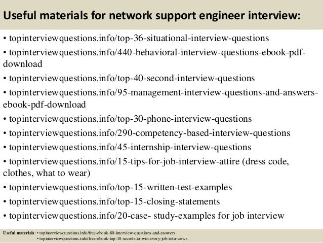 Top 10 network support engineer interview questions and answers