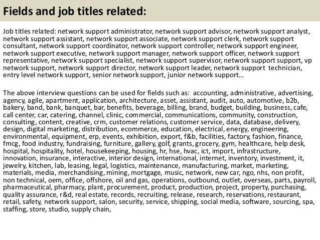 21 Fields And Job Titles