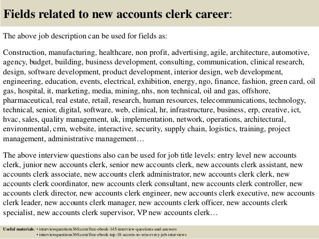 ... 18. Fields Related To New Accounts Clerk ...  Accounting Clerk Duties