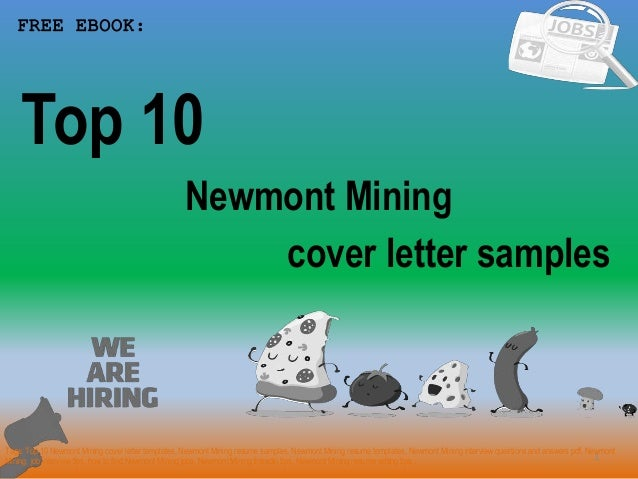Top 10 Newmont Mining Cover Letter Samples