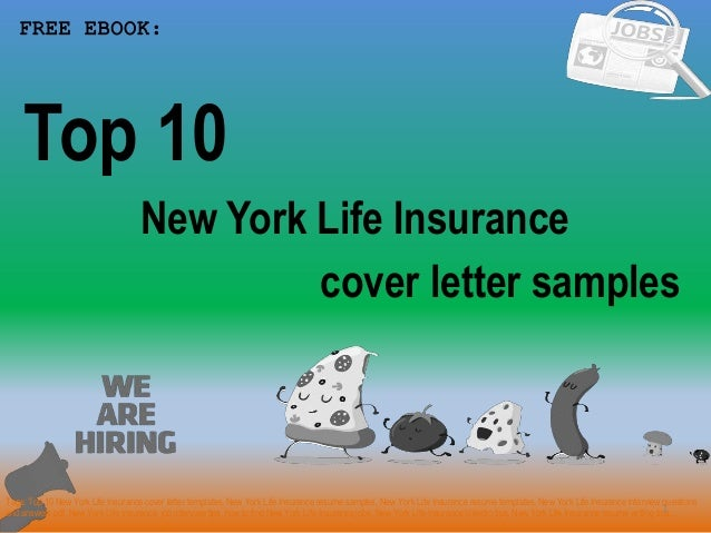 Top 10 new york life insurance cover letter samples