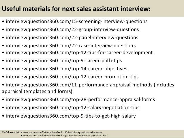 sales assistant job interview