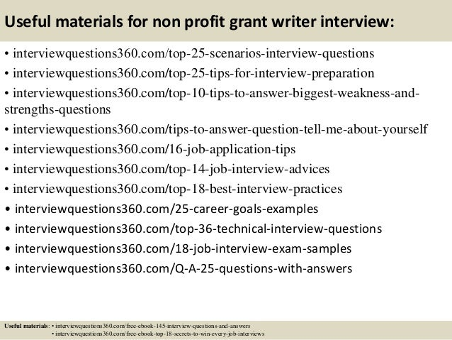Top 10 non profit grant writer interview questions and answers