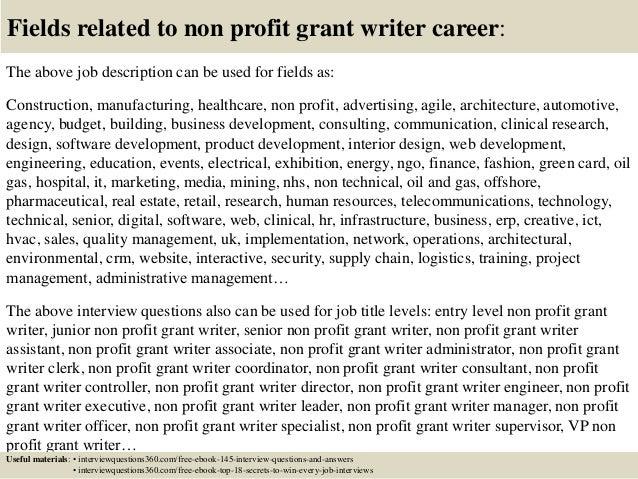 sample grant writer cover letter