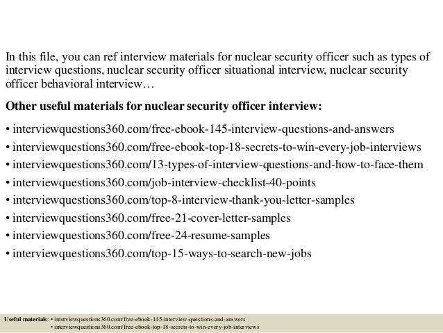 Top 10 nuclear security officer interview questions and answers