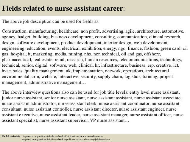 17 fields related to nurse - Nursing Interview Questions And Answers