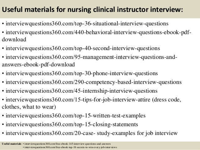 13 useful materials for nursing clinical instructor interview - Nursing Interview Questions And Answers