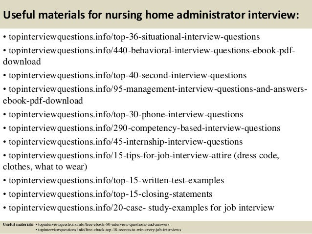 ... 12. Useful Materials For Nursing Home Administrator ...