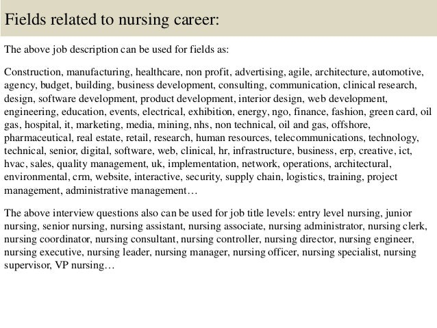 nursery nurse interview questions and answers