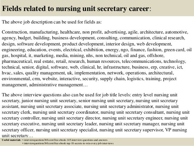 Top 10 Nursing Unit Secretary Interview Questions And Answers