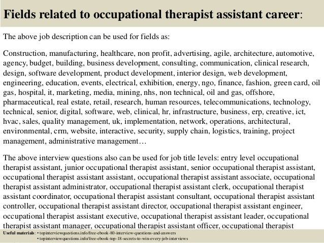 Top  Occupational Therapist Assistant Interview Questions And Answe
