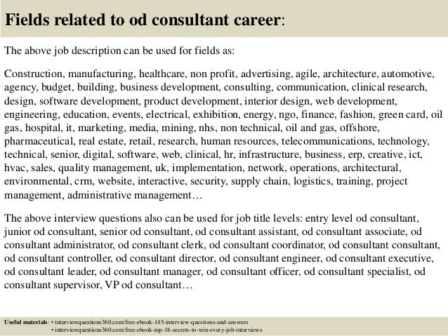 top 10 od consultant interview questions and answers