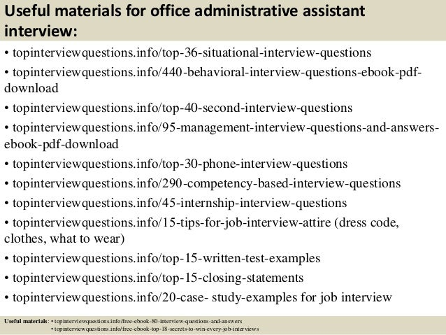 12 useful materials for office administrative assistant interview - Administrative Assistant Interview Questions Answers