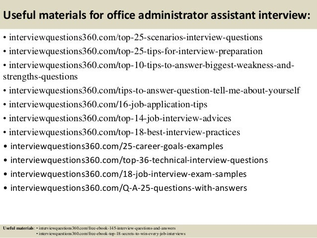 Top 10 office administrator assistant interview questions and answers