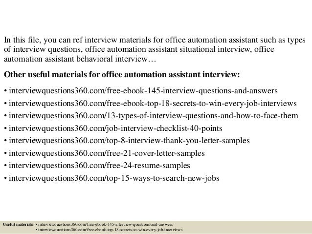 Office Automation Assistant