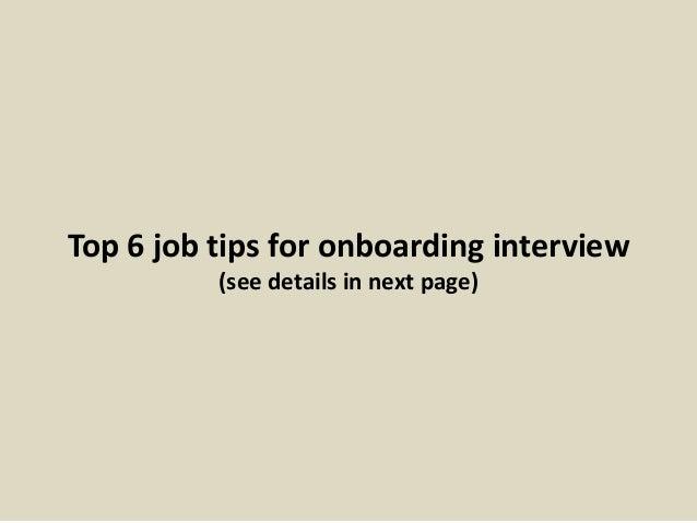 13 top 6 job tips for onboarding - Onboarding Specialist Job Description