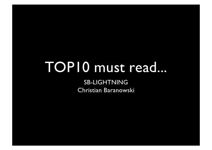 TOP10 must read...       SB-LIGHTNING      Christian Baranowski