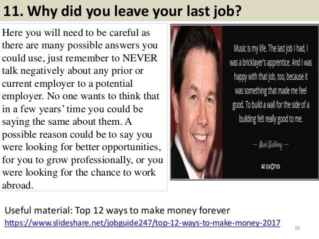 reasons for leaving current job