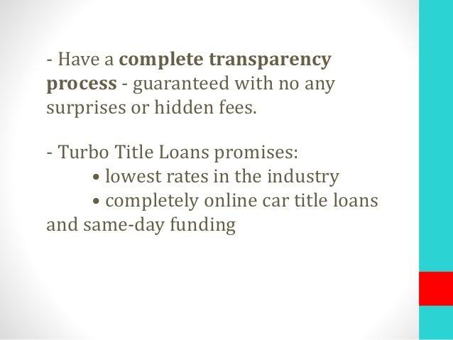 Turbo Title Loan >> Top 10 Online Title Loans