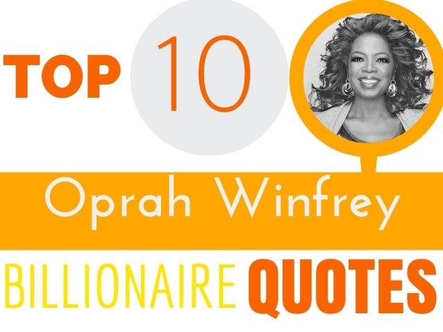OprahWinfrey 10 QUOTES TOP BILLIONAIRE