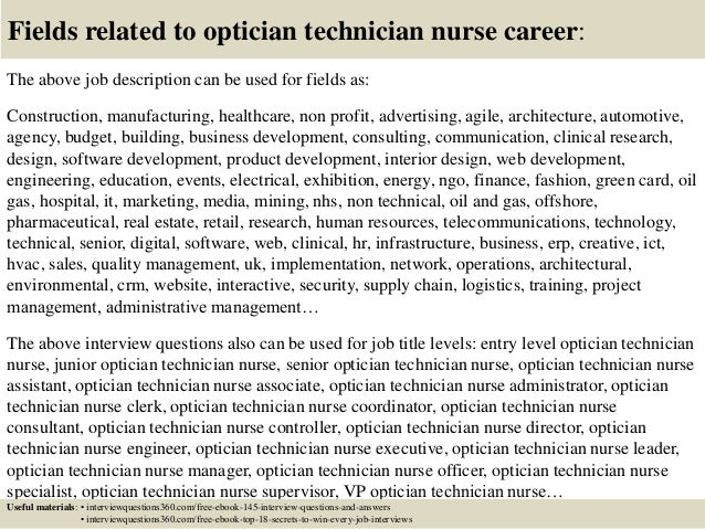 Doc Job Description Of An Optician  Job Description - Job description of an optician
