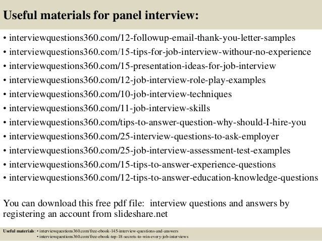 Top 10 panel interview questions and answers