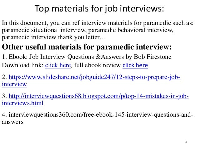 Paramedic Job Description Paramedic Interview Top Materials For Job