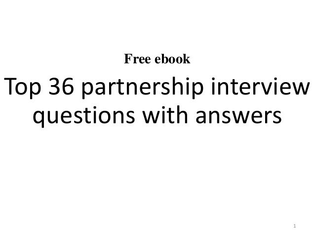 Top 36 partnership interview questions with answers free ebook top 36 partnership interview questions with answers 1 fandeluxe Images