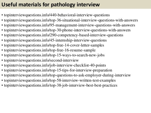 Top 10 pathology interview questions with answers