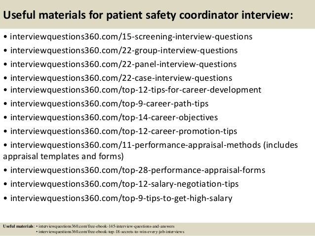Top 10 patient safety coordinator interview questions and answers