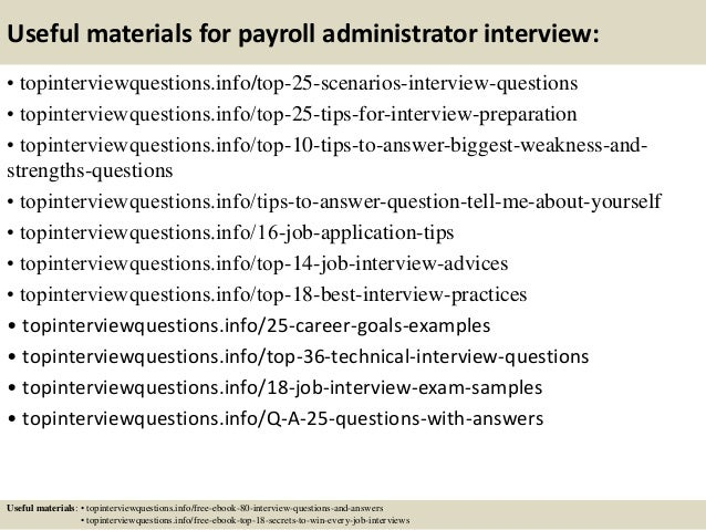 payroll administrator job description