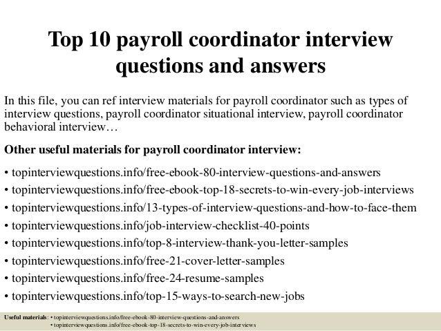 TopPayrollCoordinator InterviewQuestionsAndAnswersJpgCb