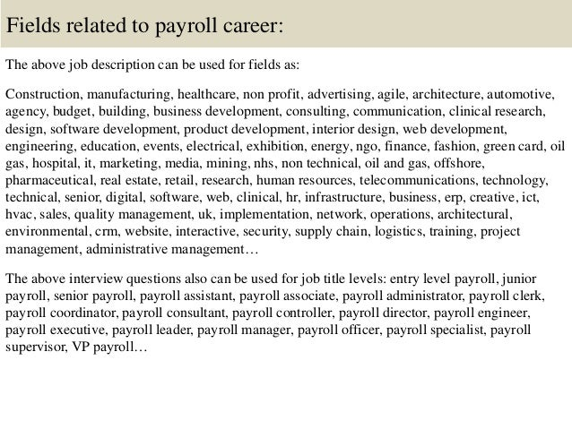 Top  Payroll Interview Questions And Answers