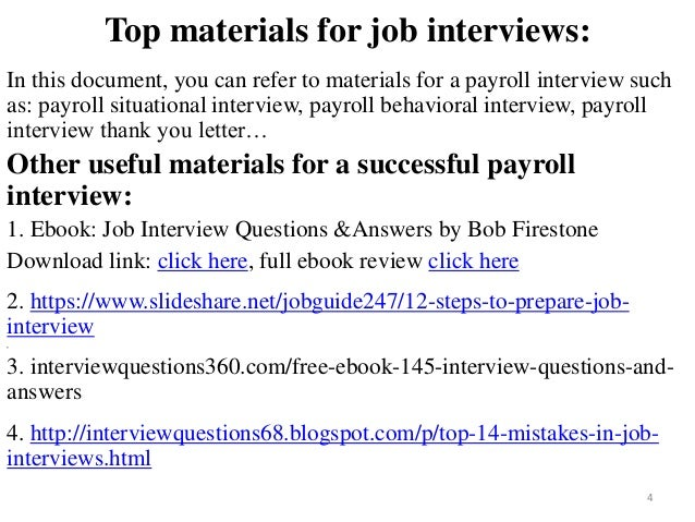 Payroll Interview Questions And Answers