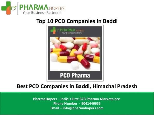 Top 10 PCD Pharma Franchise Companies In Baddi, Himachal Pradesh