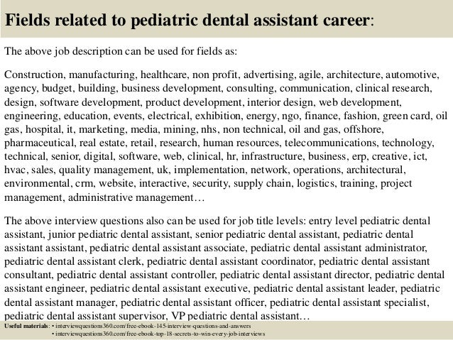 Top  Pediatric Dental Assistant Interview Questions And Answers
